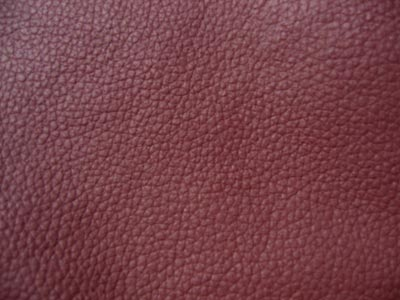 Burgundy Leather Ottoman Cover