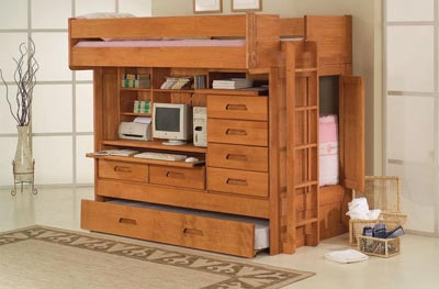 All in one full over twin bunk bed - All in one double bed ...